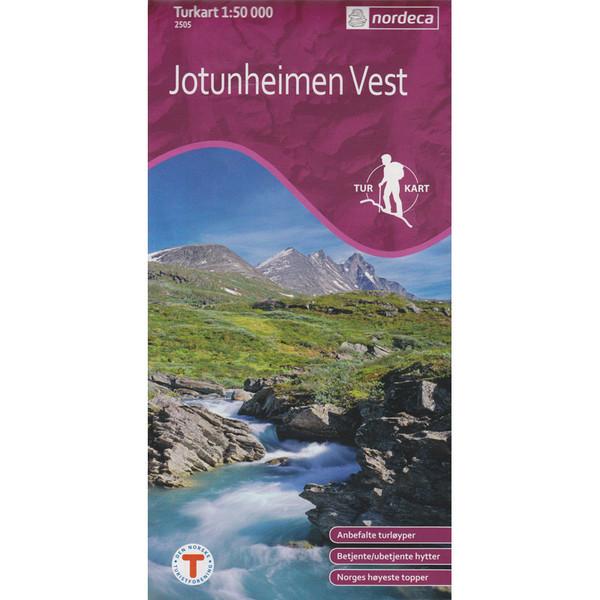 Turkart Jotunheimen West 1:50 000