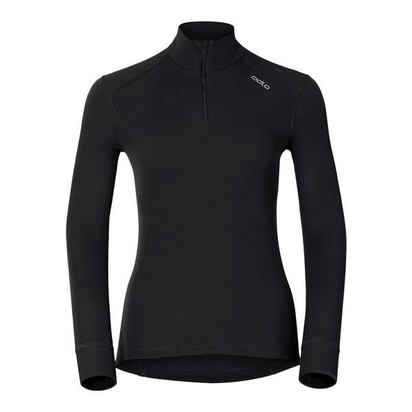 Odlo Warm L/S Zip-Shirt Frauen - Funktionsunterwäsche