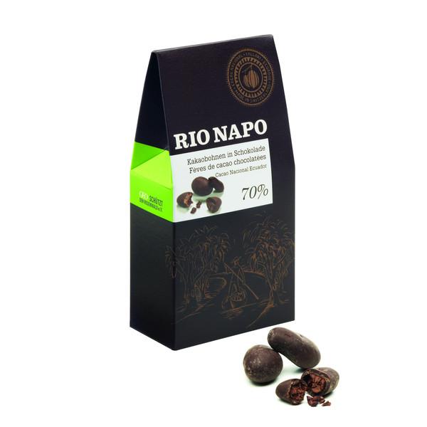 Rio Napo Cacao-Bohnen in Schokolade