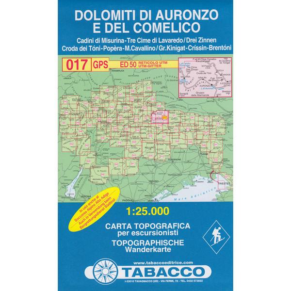 Tabacco 017 Dolimiti di Auronzo