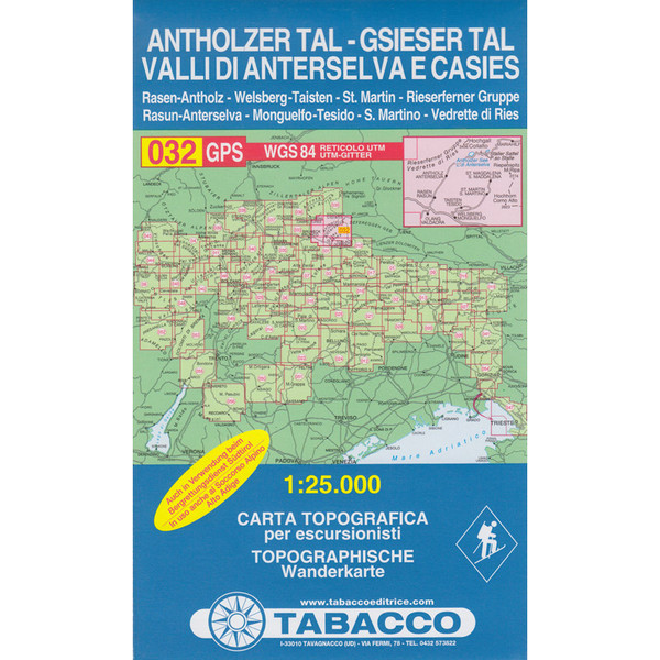Tabacco 032 Antholz Tal Gsies