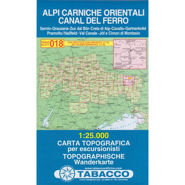 Tabacco 018 Alpi Carniche Orientali