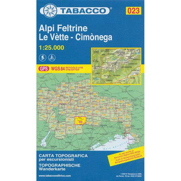 Tabacco 023 Alpi Feltrine Le Vètte