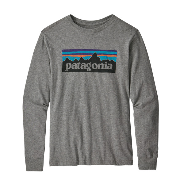 Patagonia KIDS'  L/S GRAPHIC ORGANIC T-SHIRT Barn