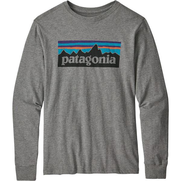 Patagonia KIDS L/S GRAPHIC ORGANIC T-SHIRT Barn