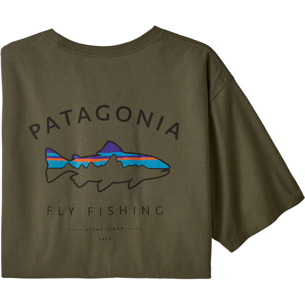 Patagonia M' S FRAMED FITZ ROY TROUT ORGANIC T-SHIRT Herr