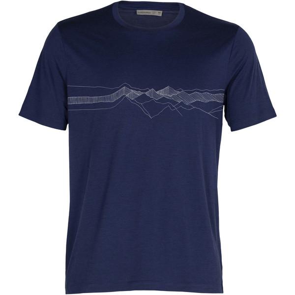 Icebreaker TECH LITE II SS TEE PEAK PATTERNS Herr - T-shirt