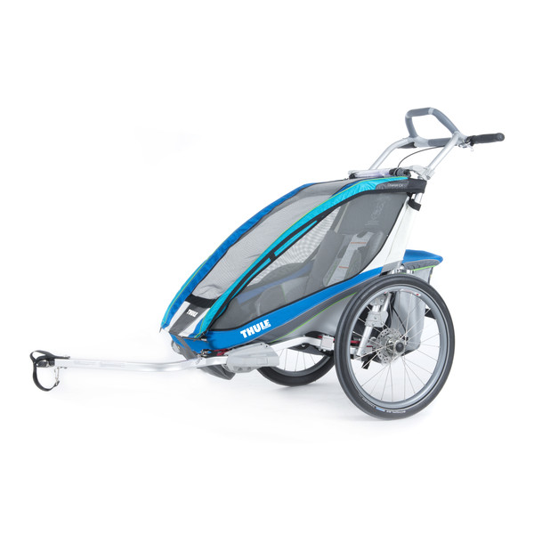 Thule Chariot CX 1 blau + Fahrradset - Fahrradanhänger