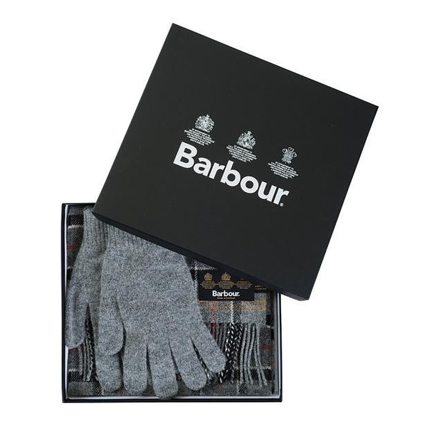 Barbour SCARF AND GLOVE GIFT BOX Herr