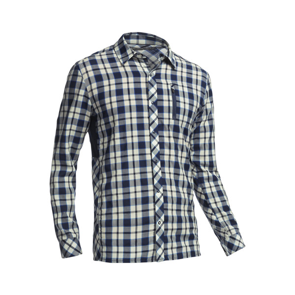 Icebreaker M COMPASS LS SHIRT PLAID Herr