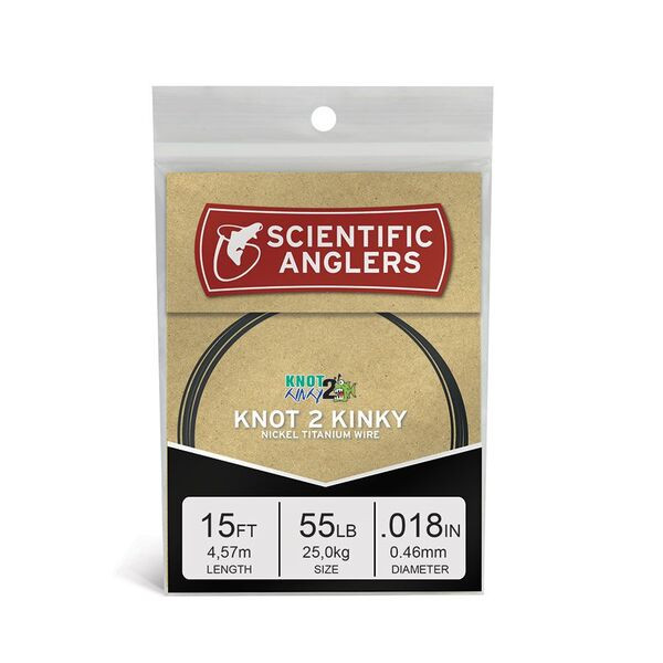 3M Scientific Anglers KNOT 2 KINKY WIRE 55LB