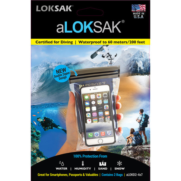Loksak SMARTPHONE  XL VATTENTÄTT FODRAL 2-P 4x7 10,84x18,1 cm