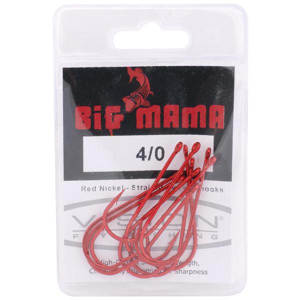 Vision BIG MAMA HOOK RED 4/0