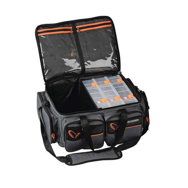 Savage Gear SG SYSTEM BOX BAG XL 3 BOXES + WATERPROOF COVER