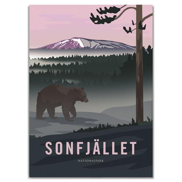 Naturkompaniet SONFJÄLLET NATIONALPARK POSTER