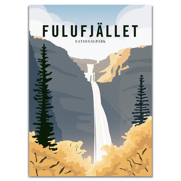 Naturkompaniet FULUFJÄLLET NATIONALPARK POSTER