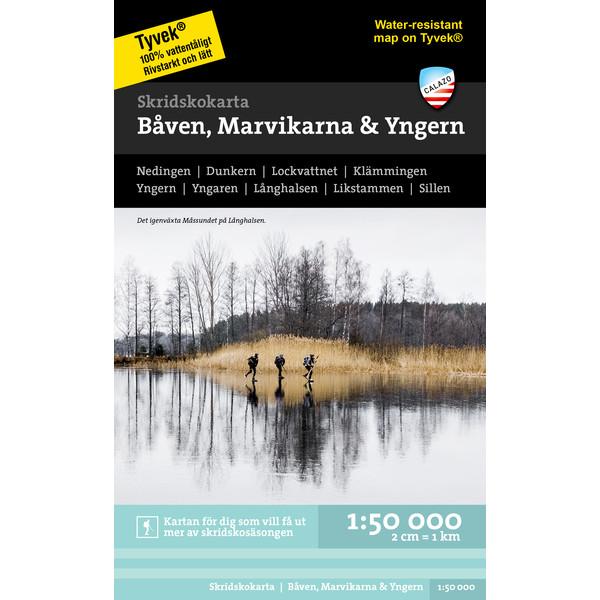 Calazo SKRIDSKOKARTA BÅVENM MARVIKARNA &  YNGERN 1:50000