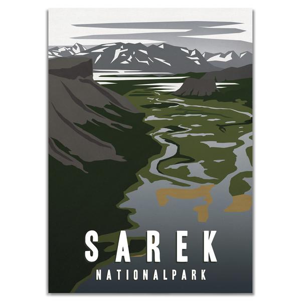 Naturkompaniet SAREK NATIONALPARK POSTER