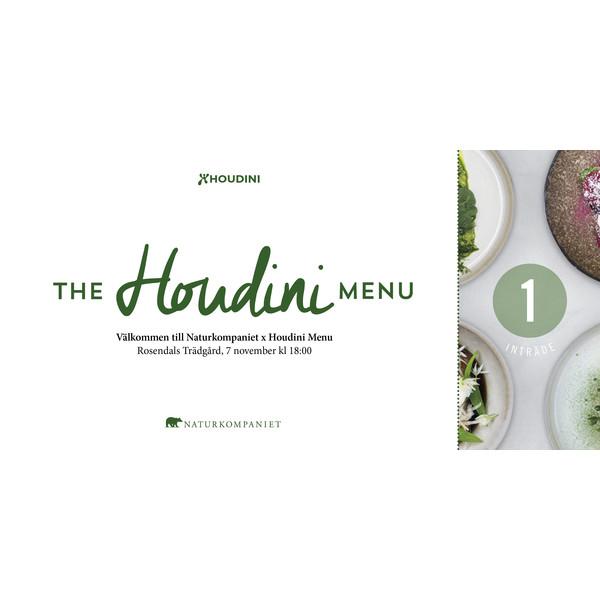 Houdini The Houdini Menu: Inträdesbiljett 2018