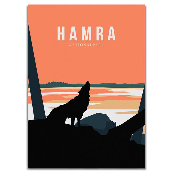 Naturkompaniet HAMRA NATIONALPARK POSTER