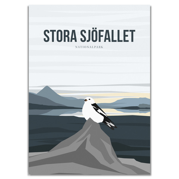 Naturkompaniet STORA SJÖFALLET NATIONALPARK POSTER