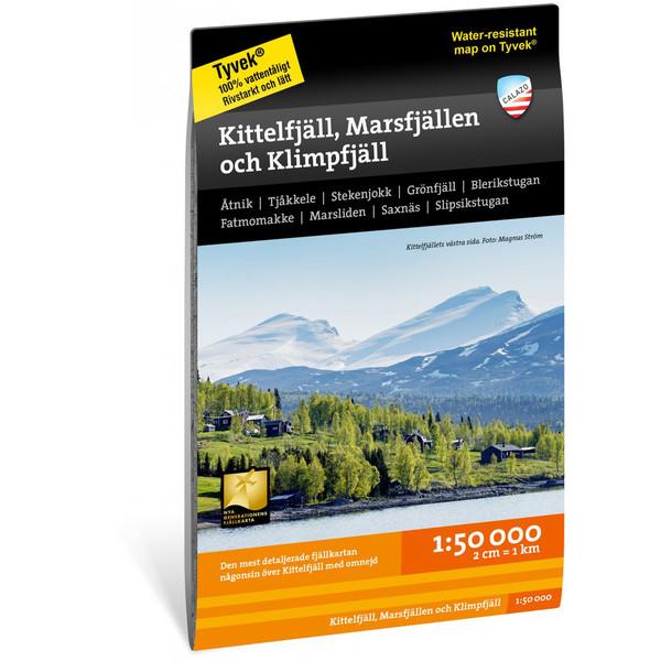 Calazo KITTELFJÄLL, MARSFJÄLLEN OCH KLIMPFJÄLL 1:50.000