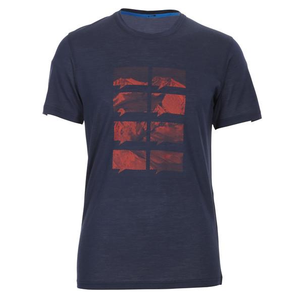 Ortovox 150 Merino Cool S/S Mountain Print Männer - Funktionsshirt