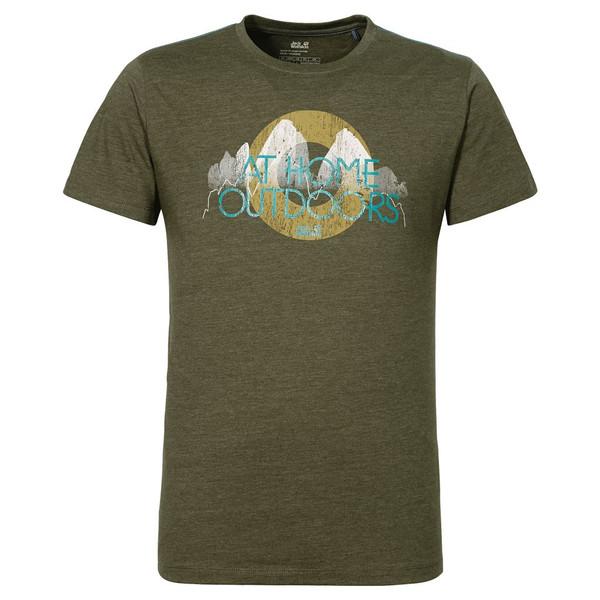 Jack Wolfskin Slogan Heather T Männer - T-Shirt