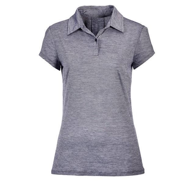 Icebreaker Sphere S/S Polo Stripe Frauen - Funktionsshirt