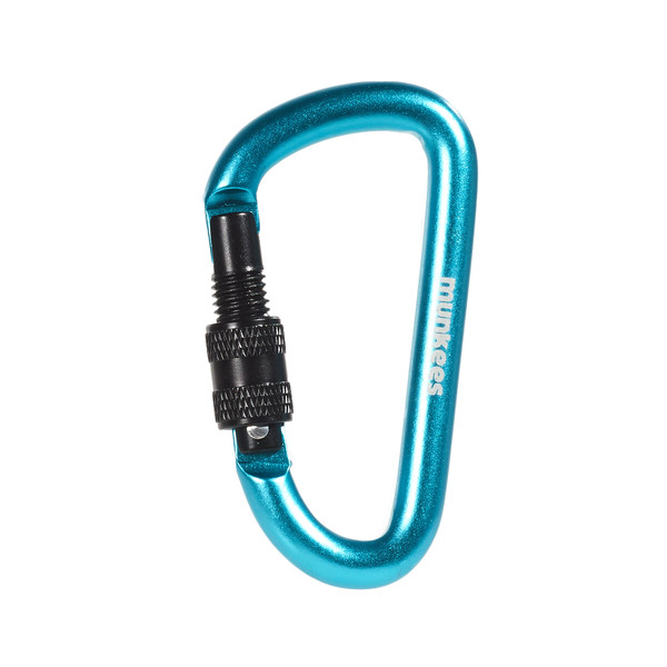munkees D Carabiner with Screw Lock 8 mm x 80 mm - Karabiner