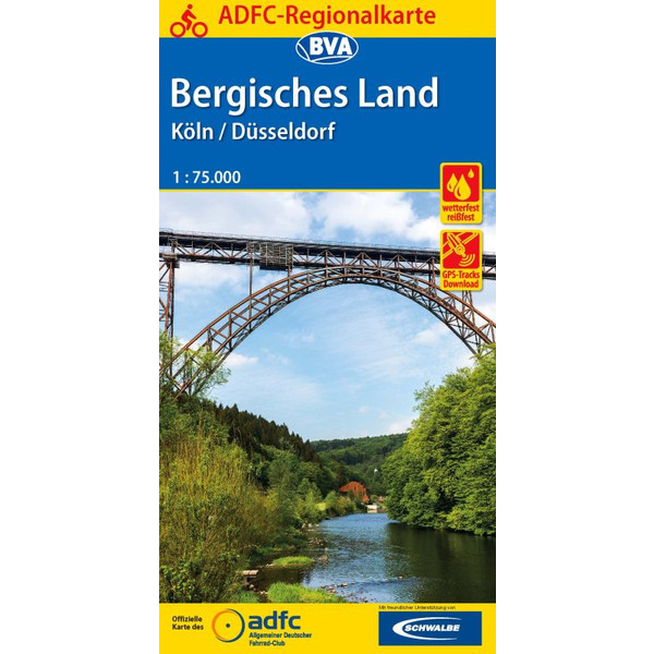 ADFC-Regionalkarte Bergisches Land