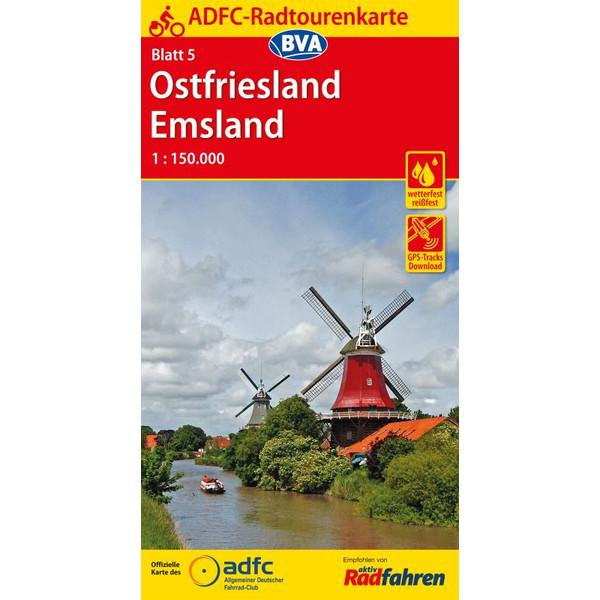 ADFC 5 Ostfriesland / Emsland 1:150.000
