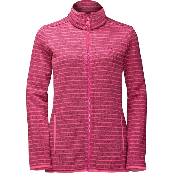 Jack Wolfskin Caribou Striped Jacket Frauen - Fleecejacke