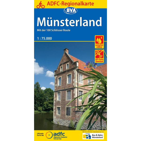 ADFC-Regionalkarte Münsterland 1:75.000