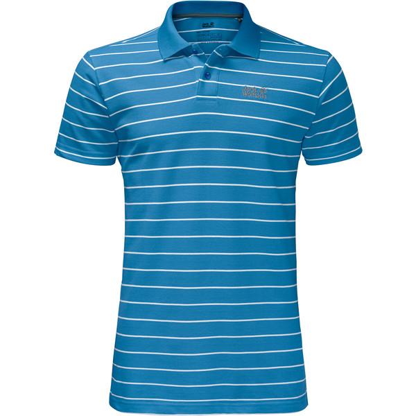 Jack Wolfskin Pique Striped Polo Männer - T-Shirt