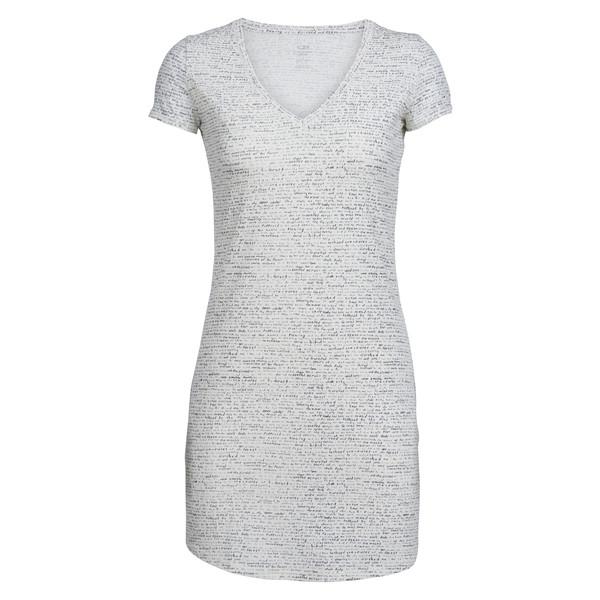 Icebreaker Yanni SS V Dress Frauen - Kleid