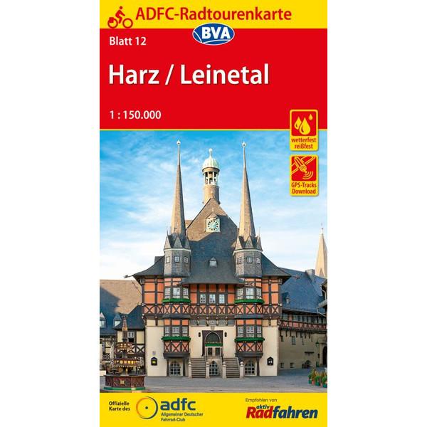 ADFC-Radtourenkarte 12 Harz /Leinetal