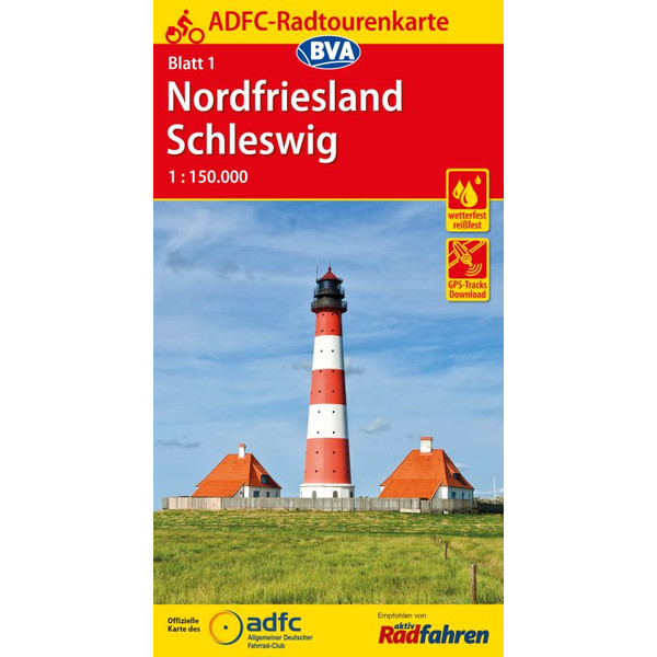 ADFC-Radtourenkarte Nordfriesland