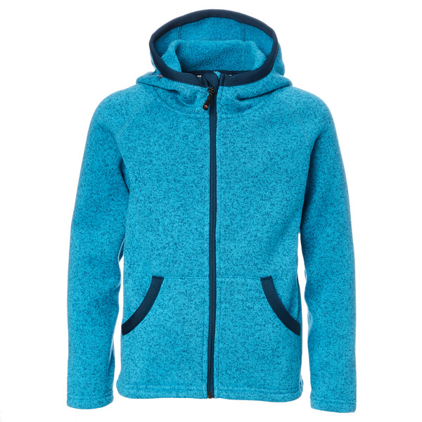Isbjörn Rib Sweater Hood Kinder - Fleecejacke