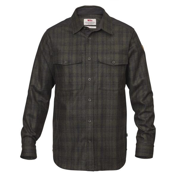Fjällräven Övik Re-Wool Shirt L/S Männer - Outdoor Hemd