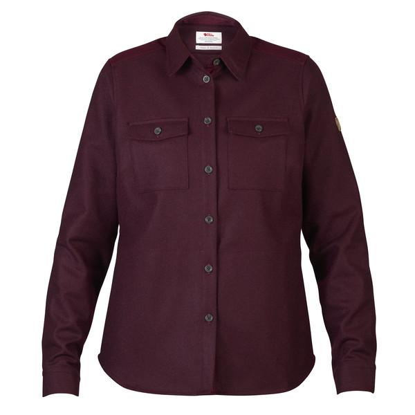 Fjällräven Övik Re-Wool Shirt Frauen - Outdoor Bluse