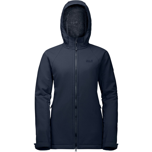Jack Wolfskin Rock Valley Long Jacket Frauen - Softshelljacke