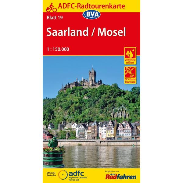 ADFC-Radtourenkarte 19 Saarland /Mosel