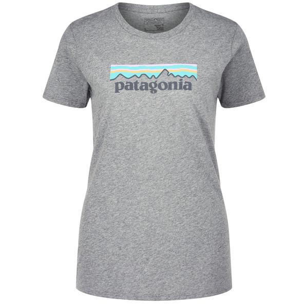 Patagonia Pastel P-6 Logo Cotton Crew Frauen - T-Shirt