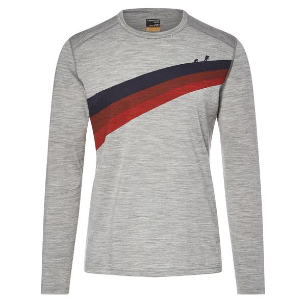 Icebreaker Oasis LS Crewe Ascent Stripe Männer - Funktionsshirt
