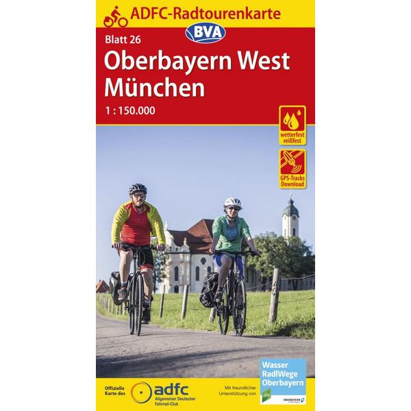 Maggiolina Airtop ADFC-Radtourenkarte 26 Oberbayern West