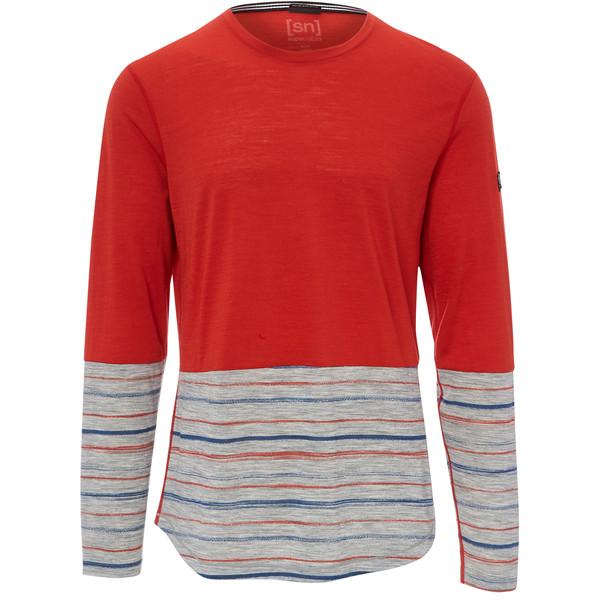 Supernatural Comfort Contrast LS Printed Männer - Langarmshirt