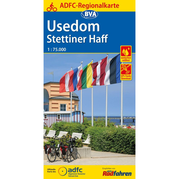Maggiolina Airtop ADFC-Regionalkarte Usedom Stettiner Haff