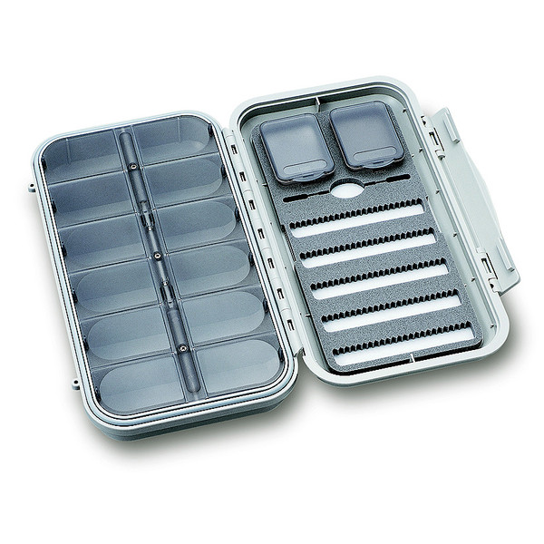 C& F Design LARGE 5-ROW DRY &  NYMPH WP FLY CASE W 12 COMP (CF-3305N)