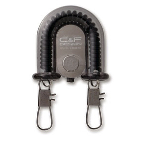 C& F Design 2-IN-1 RETRACTOR W FLY CATCHER BLACK (CFA-70WF)